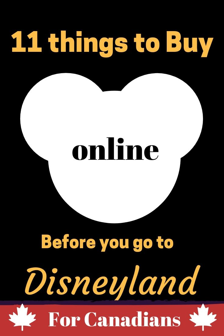 Online Shopping Before You Go To Disneyland for Canadians