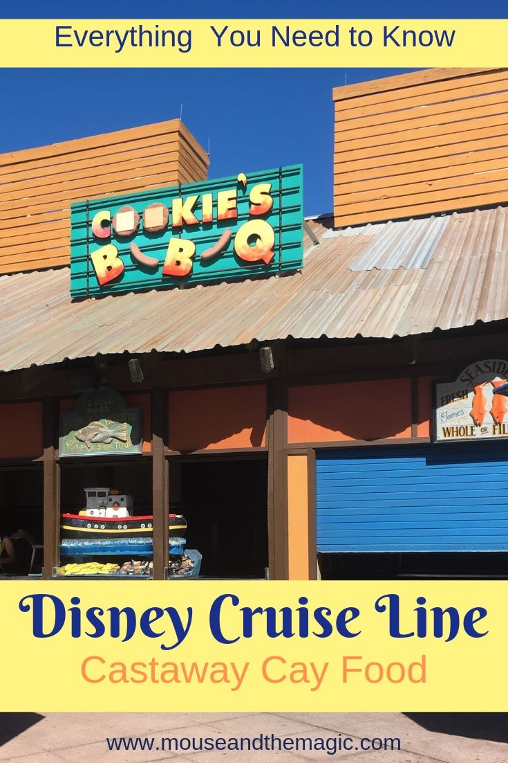 All About the Food on Disney's Castaway Cay --Cookie's BBQ