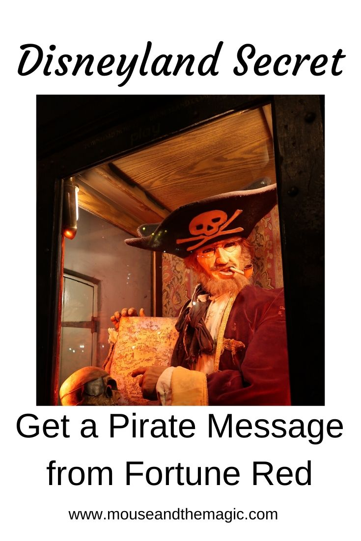 Disneyland Secret- Get a Pirate Message from Fortune Red