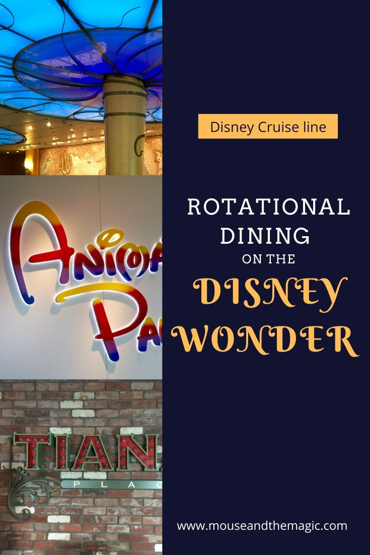 Disney Wonder Rotational Dining Explained