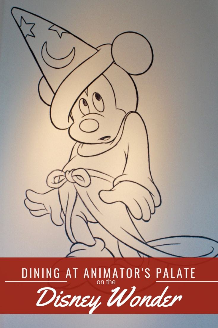 Dining at the Animator's Palate on the Disney Wonder