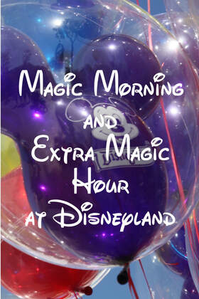 The difference between Magic Morning and Extra Magic Hour at Disneyland.